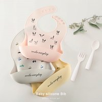 Silicone Baby Bib Adjustable Fit Waterproof Cute Picture Soft Edible Material Saliva Towel
