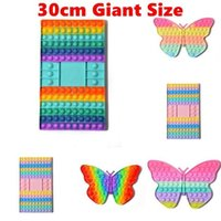 Party 32 29.5cm Super Size Fingertip Bubble Board Toy Butterfly Checkerboard Shape Fun Puzzle To Relieve Stress