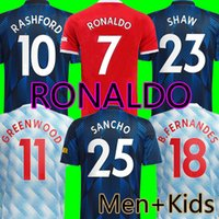 21 22 Manchester United RONALDO SANCHO Fußballtrikots RASHFORD SHAW Man Utd 2021 2022 Trikots B.FERNANDES LINGARD POGBA CAVANI Top Fußballtrikot Kinderset Uniform