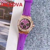 Classic luxury women's quartz movement watches diamonds outer ring sapphire mirror silicone watch glass Super wristwatch luminous montre de luxe