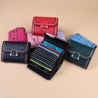 Küçük RFID Engelleme Kart Tutucu Deri Kredi Kartı Durumda Tutucu Mini Sevimli Sikke Çanta Cüzdan Seyahat Cüzdan Saklama Çantaları GWB9733