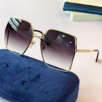 Yeni Moda 0817 Güneş Gözlüğü Bağlı Lens Kare Çerçevesiz Güneş Gözlüğü Popüler Goggle En Kaliteli Case 0817S ile Gel