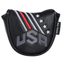 Große Zähne Golf Putter Cover Hallet Head Cover Square Protector Fall Magnetische Verschluss USA Komplette Set von Clubs1