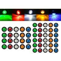 """Atacado 12v 3led 3/4 """"3528 SMD Universal Car caminhão reboque mini pequeno redondo redondo led bullet botão lateral lâmpada sinal"""