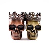 Шлифовальная металлическая король череп металлический табачный трава шлифовальщик 3-частями специи дробилка рукой Мюллер магнитный с синтезами 447 R2