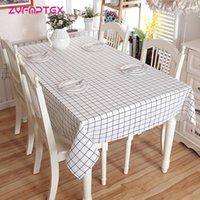 Zyfmptex Современный плед белый серый геометрические прямоугольные скатерти для столового стола скатерть хлопковое белье столовая ткань домашнее декор