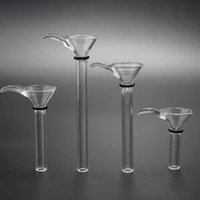 Factory Style 4 Slider Funnel Styles With Handle Manufacture Glass Male Stem ,simple downstem glass bowl for water pip