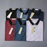 2021 Luxus Business T-Shirt Neue Herren Wear Designer Designer Kurzarm T-Shirt 100% Baumwolle Hohe Qualität Großhandel Größe S ~ 2XL Kostenloser Versand