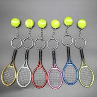 시뮬레이션 테니스 키 체인 가방 펜던트 크리 에이 티브 라켓 스포츠 선물 광고