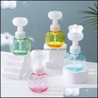 Liquid Bathroom Aessories Bath Home & Gardenliquid Soap Dispenser 300Ml Flower-Shaped Empty Bottles Refillable Shower Gel Foaming Pump Stora