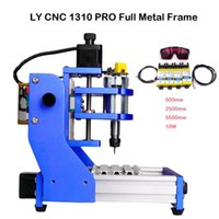 Power Tool Sets LY CNC 1310 PRO Full Metal Frame Desktop Engraving Router Assembled Pack Square Rail DIY Mini Milling Machine For Wood Carvi