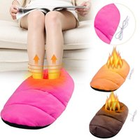 Carpets Winter Home Foot Warmer USB Heating Large Stuffing Plush Shoes Comfortable Safety Enjoy Family Warming Wholesales #