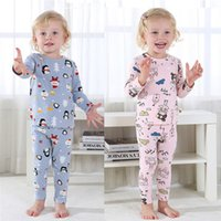 2021 Christmas Pajamas Set Cartoon Animal Print Autumn Long Sleeve baby Clothing Sets toddler outfits infants Cotton warm suit underwear Suits