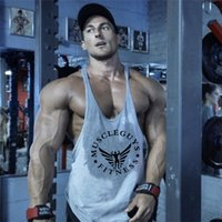 Ginásio Stringers Mens Tanques Camisa sem mangas, Tanktops Bodybuilding e Fitness Men's Gyms Singlets Workout Roupas