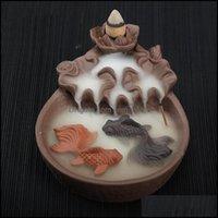 Sachet Taschen Düfte Dekor Gardeckflow Burner Keramik Rückfluss Kegelstick Weihrauchbrenner CENTER Geschenk Ornamente Creative Inhaber Home de