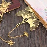 1pc style chinois en laiton métal creux marque-page Lotus feuille de livres clip créatif Papeterie de création Fine Holiday Holiday Student cadeau Art Accessoires