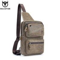 Bullcaptain جلد حقيقي رجل حقيبة الثدي يمكن استخدامه لمدة 7،9 بوصة ipai حقيبة سعة كبيرة رسول حقائب حقيبة عارضة