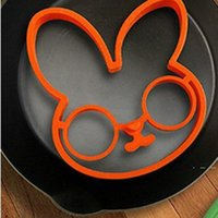 Silicone Egg Baking Mold Cute Rabbit Omelette Fried Mould Kitchen Omelette Ring Silicone Molds Baking Cooking Tool EWA3855