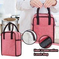 Hitzekonservierung Mittagessen Taschen 1 stücke Große Kapazität isoliert Kühler Camping Picknickkasten Wärmewasserdichte Tragbare Bento Bag