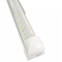 Porta di raffreddamento integrata Integrated V Shape 8ft LED Tubo Light 6500K 144W Lente trasparente 14400LM per magazzino Azionamento del garage in New Jersey 25 / Pack