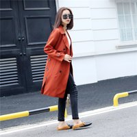 Women's Trench Coats Coat han spring issue , dress long coat cultivate the morality of women 7ERX