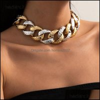 Chains & Pendants Jewelrychains Ingesight.Z Vintage Chunky Thick Plastic Choker Necklace For Women Men Punk Exaggerated Short Clavicle Neckl