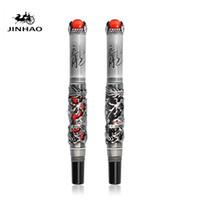 Dragon Jinhao King Ball Playing Pen, Ball Calligraphy Dragon with Atmosphere, Good Quality Panlong Solid Wood Box