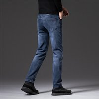 Mens Jeans Autumn Winter Styles Designer Business Casual Biker Skinny Embroidery Fashion Man Cool Straight-Cut High Quality Trousers W28-W38 Korean-style Trend