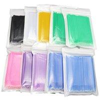 100 pcs / pacote de maquiagem descartável escovas de algodão mini aplicadores de cílios individuais de rímel ferramentas de extensão
