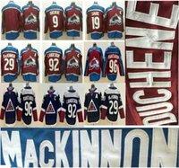 رخيصة Colorado Avalanche 9 Matt Duchene 19 جو Sakic 29 Nathan Mackinnon 92 Gabriel Landeskog 96 Mikko Rantanen مخيط الهوكي الفانيلة