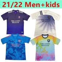 2021 2022 MLS Orlando City Soccer Jersey Fans Version Nani Pato Dike Mueller Special Edition Training Wear Hommes + Chemise de football pour enfants