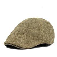 Berels Bahar ve Yaz Klasik Retro Ördek Dil Şapkası erkek İleri İngiliz Tarzı Kaba Keten Nefes Bere Kadın Moda