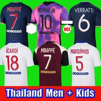 Top Soccer Jersey 20 21 Maillots de Football Shirts 2020 2021 Mbappe Neymar Jr Icardi Uomo + Kid Kit enfants Maillot deley