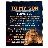Blankets ONGLYP To My Son Blanket Soft Flannel Throw For Sofa Couch Travel Camping Lightweight Birthday Christmas Gifts