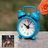 Mini Candy Color Metal Alarm Clocks Table Desktop Dial Needle Clocks Function Cute Pocket Watches Portable Kitchen Clock ZA3418