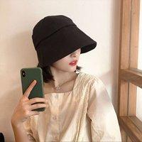 Fisherman's hat Korean fashion versatile black summer thin sunscreen lampshade Bucket Hat