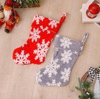 홈 크리스마스 파티 장식 HWB10115에 대 한 장식품을위한 크리스마스 스타킹 장식 플러시 눈송이