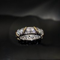 NEW Fashion diamond 925 sterling silver love Cluster rings bague anillos women marry wedding engagement rings sets Lovers gift jewelry NRJ