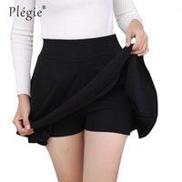 Femmes Jupes Plegie M-5XL Plus Taille TUTU School Jupe courte Pantalons Convient à l'année Mini Saia High Taille High Faldas Mujer