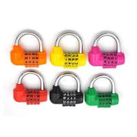 Toiletry Kits 1pcs Security Padlock 6 Colors 4 Dial Luggage Locks Digit Letter Combination Travel Code Lock Diary Password