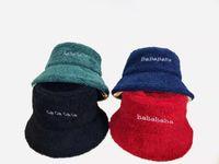 Роскошные широкие Breim Hats Faux меховой мех Утолщение шерстяной осенью зима устроенные дизайнерские ведро шляпа панама женщин мужчины рыболовные колпачки открытый спортивный спорт повседневная крышка теплые мягкие шапочки