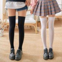 Women Girls Thigh High Over Knee Socks Sexy Lace Fishnet Stockings Nylon Long Socks Hosiery Solid Fashion High Quality Stockings
