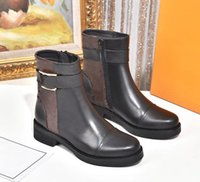 2021 Frauen Marke Martin Stiefel Echtes Leder Material Top Qualität Mode Rutschende Winter 35-40 Größe