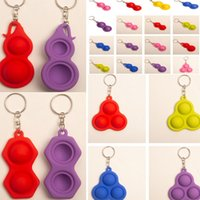 Push Pop Bubble Simple Dimple Toy Squeezy Keyring 2021 3 2 B...