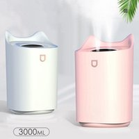 Humidifiers 3L Double Nozzle Humidifier Usb Large Capacity Household Mute Bedroom Office Air Humidification Heavy Fog With Light