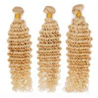 Remy Menschliches Haarwebart Deep Wave Peruanische Jungfrau Haarbündel 613 Blondine für Schwarze Frauen Günstige Haarverlängerung Queenlike 9A Diamant Note