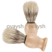 Nylon Material Woody Beard Brush Bristles Shave Tool Man Male Shaving Brushes Shower Room Accessories Clean Home