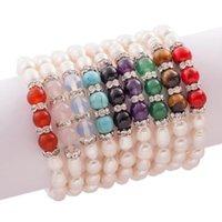9 kleuren vers water parel opaal kristal kralen strengen stretchy armbanden mode-sieraden BR06