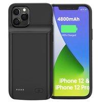 Bärbar svart batteriväska till iPhone 12 Pro Max Extern laddning Power Case för iPhone 8 11 Pro max 12 mini