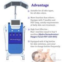8 in 1 macchina idrofacciale Hydral Dermabrasione del viso Viso Pulito Attrezzatura pulita RF Bio-Lifting Spa Facial Machine 7 Diverse luce di colore